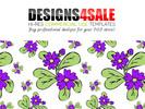 Thumbnail Daisy Flowers Purple Pattern For Sale