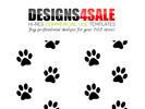 Thumbnail Paws (Print) Path Pattern For Sale