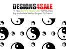 Thumbnail Yin Yang In Black Pattern For Sale