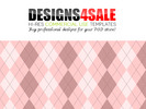 Thumbnail Argyle Pale Pink Pattern For Sale