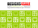 Thumbnail Love Squares White Pattern For Sale