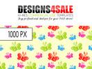 Thumbnail Little Butterflies Vibrant Pattern For Sale