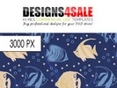 Sea Fish Pattern For Sale