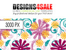 Thumbnail Swirls And Flowers Vibrant Pattern For Sale