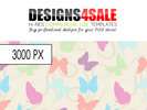 Thumbnail Butterflies and Swirls Pastel Pattern For Sale