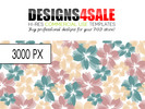 Flower Burst Pastel Pattern For Sale