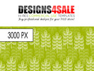 Modern Leafy Pattern For Sale