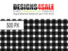 Thumbnail Gingham Check Black Pattern For Sale
