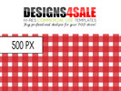 Thumbnail Gingham Check Red Pattern For Sale