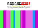 Thumbnail Neon Stripes Pattern For Sale (3)