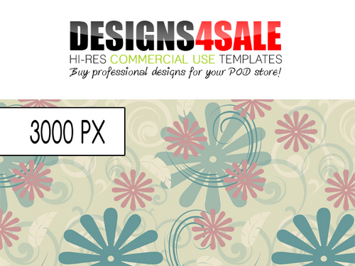 Product picture Swirls And Flowers Pastel Pattern For Sale