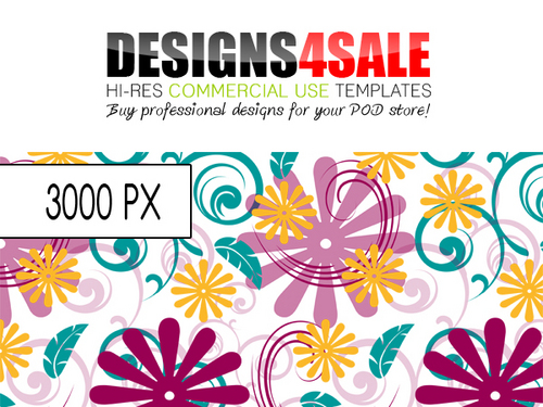 Product picture Swirls And Flowers Vibrant Pattern For Sale