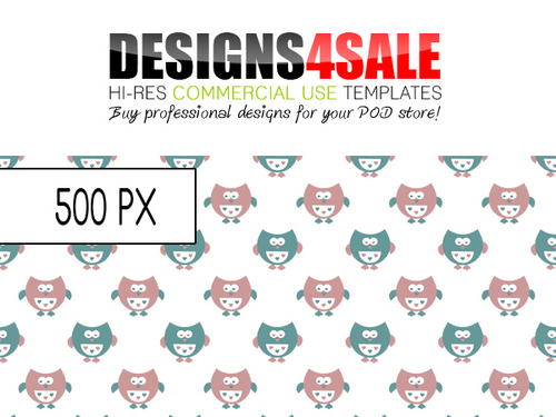 Product picture Cute Little Owls Pastel Pattern For Sale