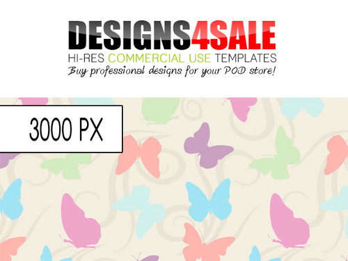 Product picture Butterflies and Swirls Pastel Pattern For Sale