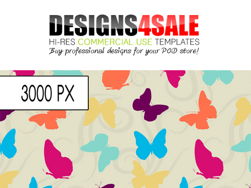 Product picture Butterflies and Swirls Vibrant Pattern For Sale