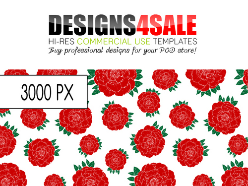 Product picture Red Roses Pattern For Sale