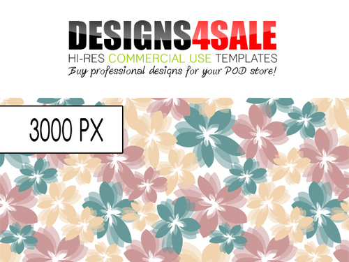 Product picture Flower Burst Pastel Pattern For Sale