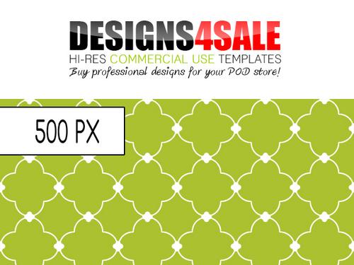Product picture Quatrefoil White Pattern For Sale