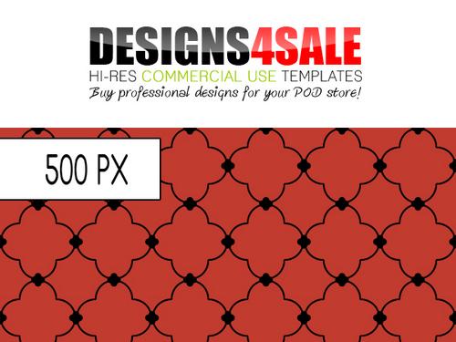 Product picture Quatrefoil Black Pattern For Sale