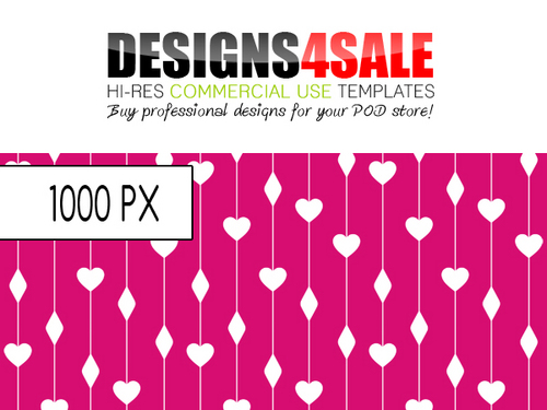 Product picture Hearts And Diamonds Pattern For Sale
