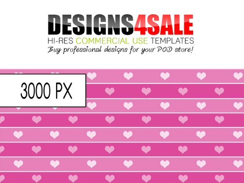 Product picture Hearts And Stripes Pattern For Sale